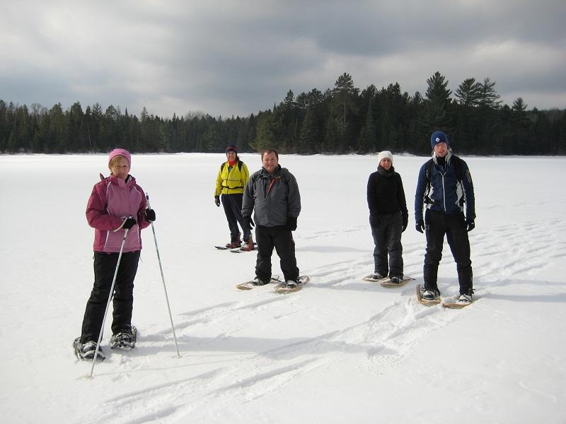 Snowshoeing in Algonquin Park, Ontario