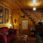 Cozy lounge at Algonquin Eco-Lodge