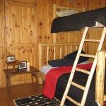 Pine log bunk bed