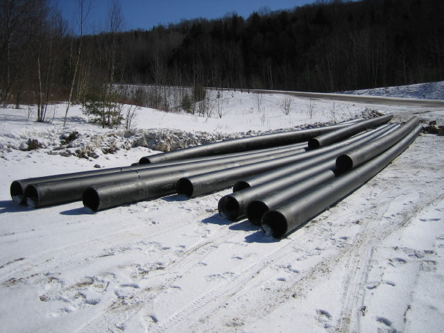 50' lengths of micro-hydro pipe
