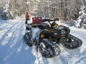 ATV with tracks for snow