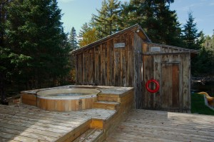Carbon neutral hot tub at the Algonquin Eco-Lodge