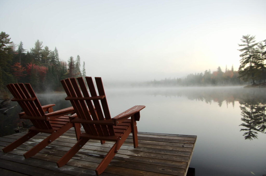 Photo of a Foggy Lake near the Eco-Lodge's Family Travel Accommodations.