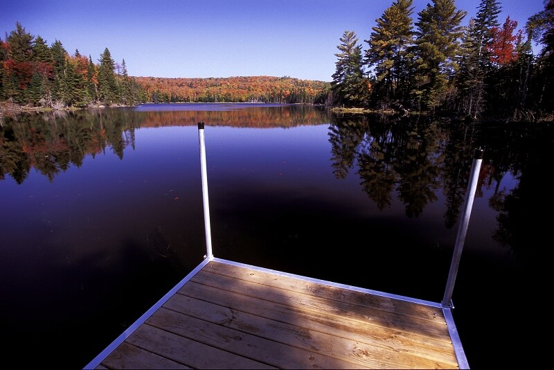 Photo of the Eco-Lodge's Private Lake. Click Here to Read Our Fall Bucket List.