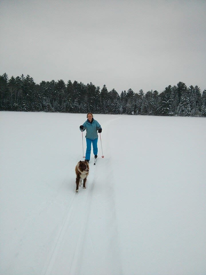 Photo of a Woman Nordic Skiing near the Eco-Lodge. Check Out This Winter Bucket List!